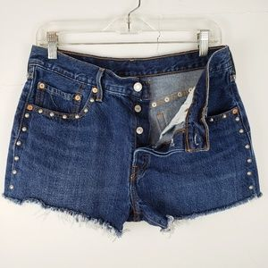 Levi's 501 Button Fly Studded Jean Short W30